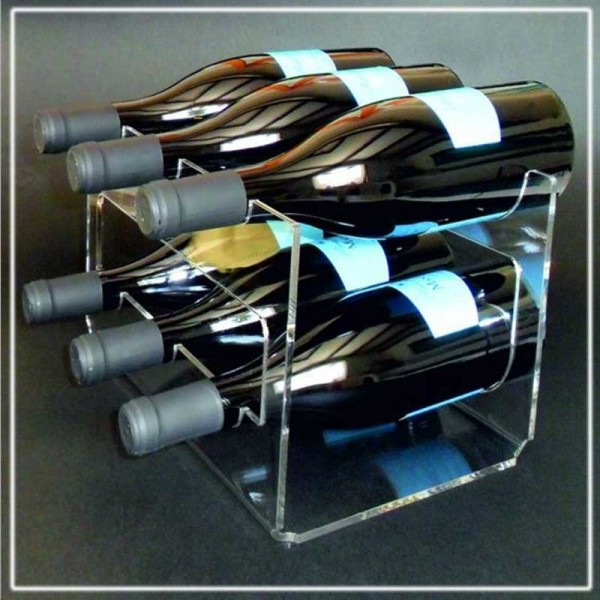 Mini cantinetta vini in plexiglass forma U